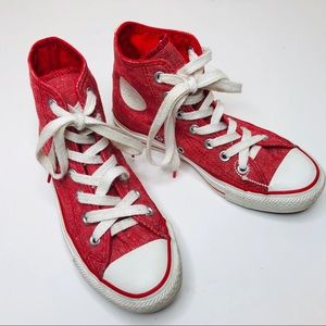 Converse All Star High Top Chuck Taylors Red 3
